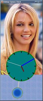 Britney Spears Clock